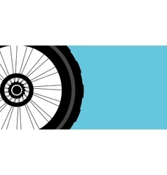 silhouette of a bicycle wheel vector image