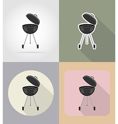 food objects flat icons 15 vector image