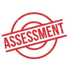 Assessment rubber stamp vector