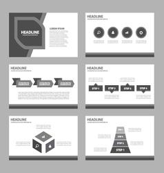 Black presentation templates infographic element vector