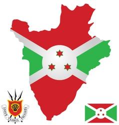 Burundi Flag vector image vector image
