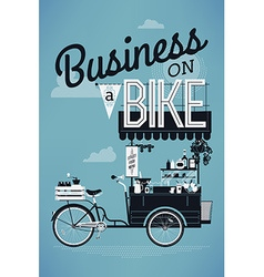Business on a bike poster vector