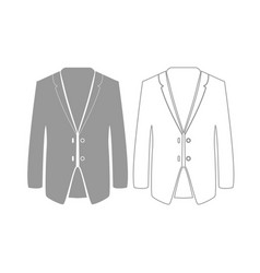 Business suit grey set icon vector