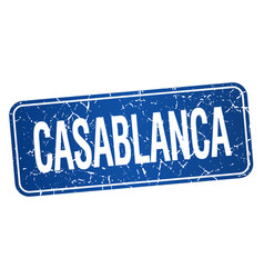 Casablanca blue stamp isolated on white background vector