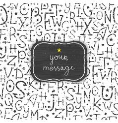 Chalkboard alphabet letters frame seamless pattern vector