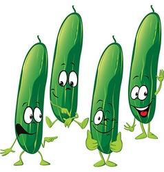cucumber - funny cartoon vector image vector image
