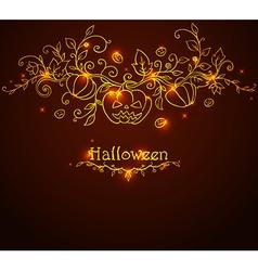 doodle halloween background vector image vector image