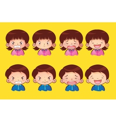 emotion kids vector image