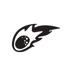 Flat icon in black and white comet vector