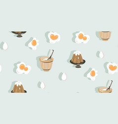 hand drawn abstract modern cartoon cooking vector image