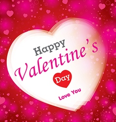 Happy Valantines Day on red background vector image vector image