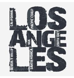 Los angeles city typography design vector