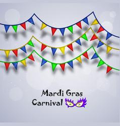 Mardi gras carnival background vector