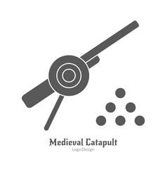 Medieval logo emblem template black simple style vector