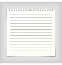 Note paper sheet with lines vector