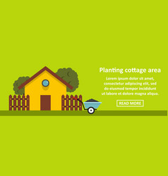 planting cottage area banner horizontal concept vector image vector image