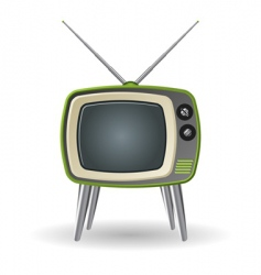 retro tv vector image vector image