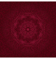 Round lace ornaments on background with seamless vector