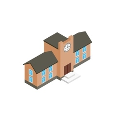 School building icon isometric 3d style vector