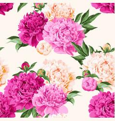 seamless varicolored peonies vector image