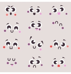 Set cartoon patch badges emoji vector image vector image