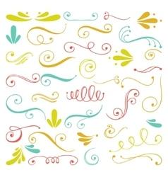 Set of hand drawn swirls vector
