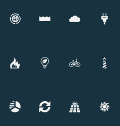 Set of simple power icons vector