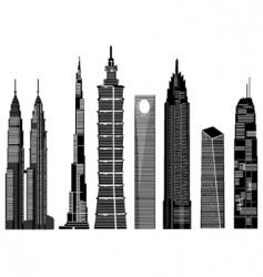 skyscraper buildings vector image vector image