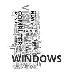 Xp to vista upgrade or downgrade text word cloud vector