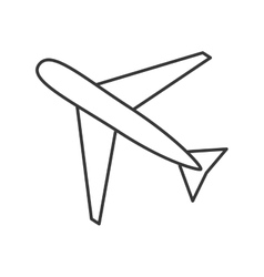 Airplane transportation trip design vector