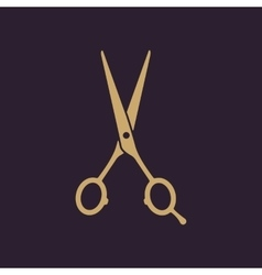 The hairdressing scissors icon barbershop symbol vector