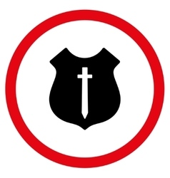 Guard Shield Flat Rounded Icon vector image