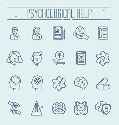Set symbols of psychological help vector