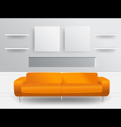Living room interior concept vector