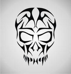 Tribal skull face vector