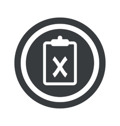 Round black clipboard no sign vector