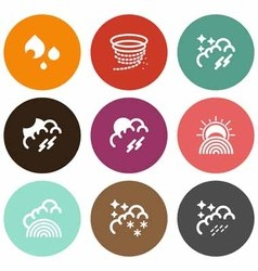 Natural weather icons vector