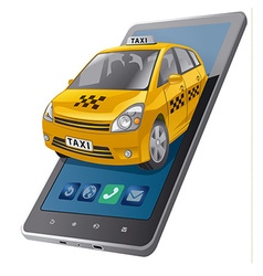 Tax mobile service vector