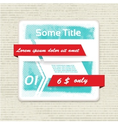 Origami banner with halftone efect eps 10 vector