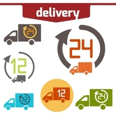Icons set of fast delivery vector