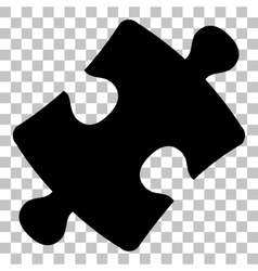 Puzzle piece sign Flat style black icon on vector image