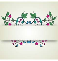 abstract flowers on a light background for text vector image vector image