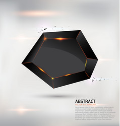 abstract geometric black shape background vector image vector image