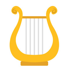 Ancient greek lyre flat icon music vector