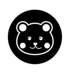 Bear teddy toy icon vector
