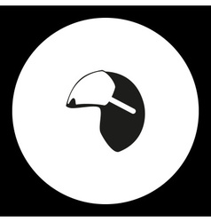 Black isolated simple modern pilot helmet icon vector
