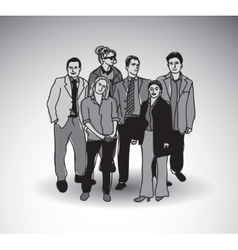 Business team group people with shadow vector