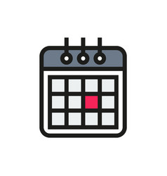 Calendaricon on white background vector