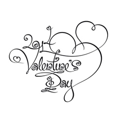 Caligraphic Text 2014 Valentines Day vector image