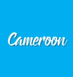 cameroon text design calligraphy vector image vector image